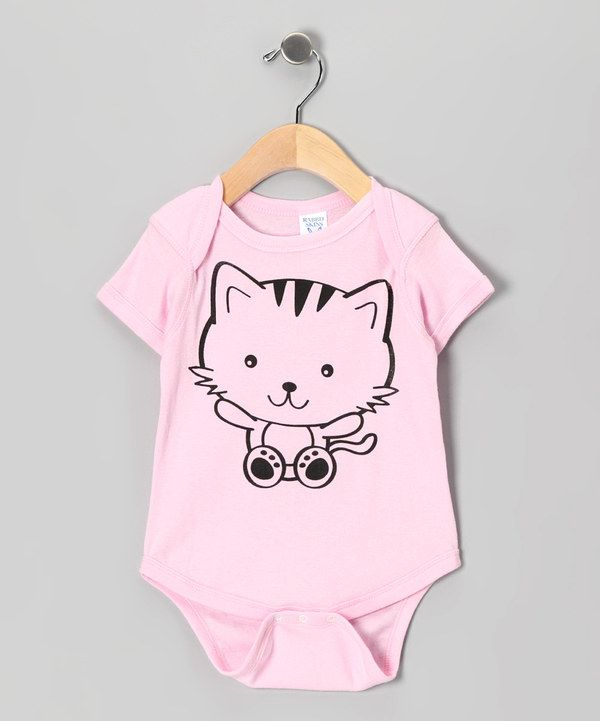 This Light Pink Kitty Bodysuit - Infant by RaR Boys is perfect! #zulilyfinds