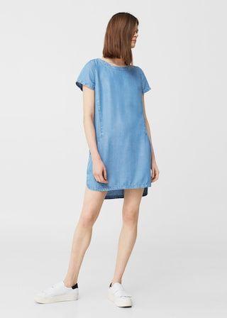 Robe denim tencel® - Femme   MANGO France 60538ec6599d