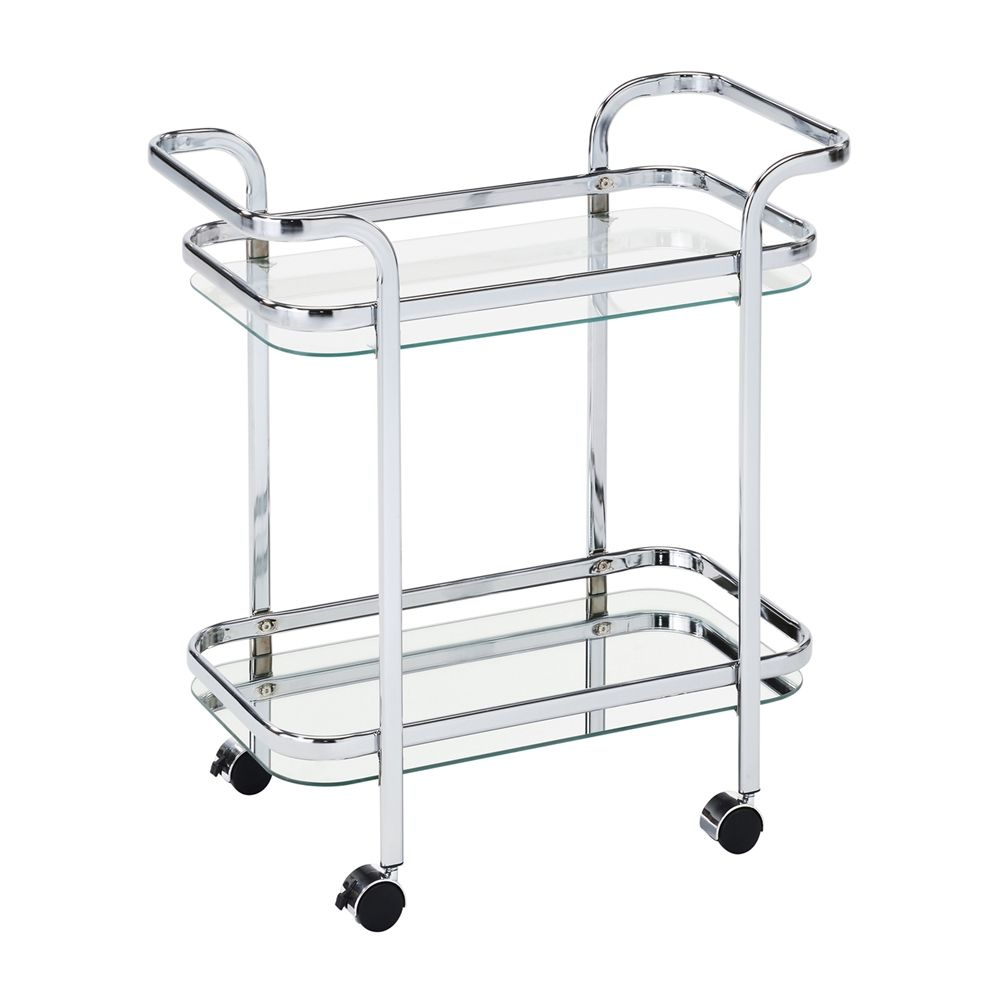 Shop Worldwide Home Furnishings 556-218CH 2-Tier Trolley Cart at ...