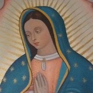 Hermosa pintura De la Virgen de Guadalupe realizada por la pintora Nora Angelica Bustos Hernandez. Ventas e informes: ani_servin@hotmail.com