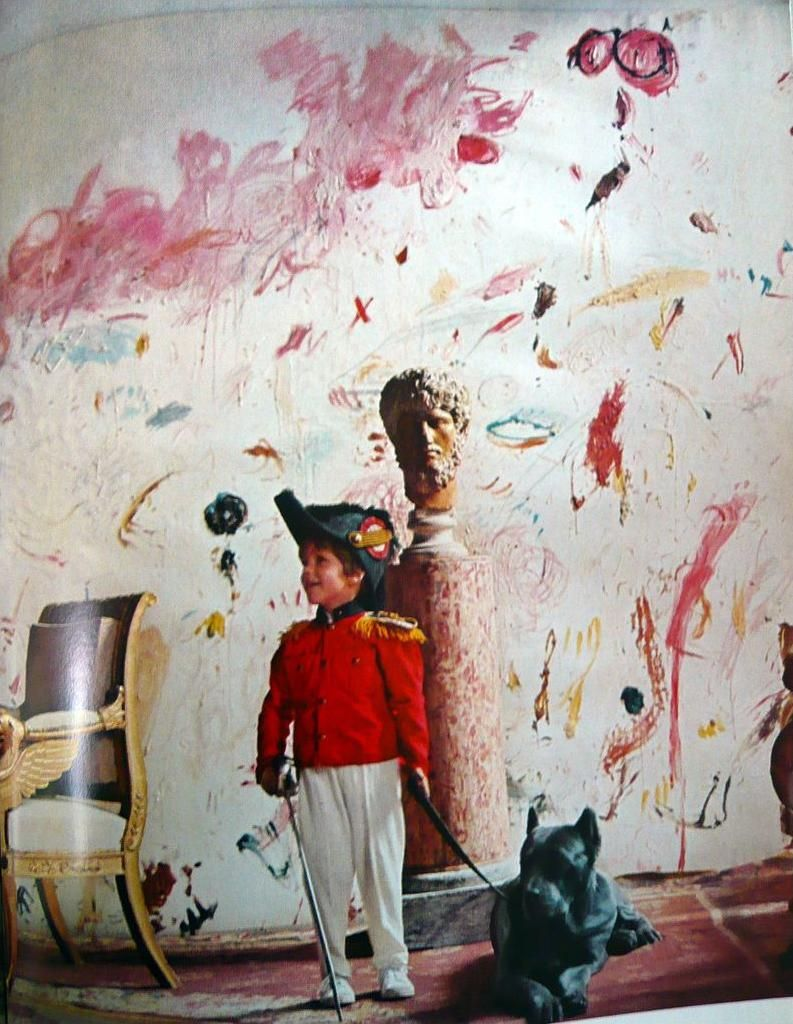 People painting houses - Cy Twombly S Son And Dog At Their House In Rome The Perfect Style Of Sunday Morning From Horst S 1968 Superbook Vogue S Book Of Houses Gardens People