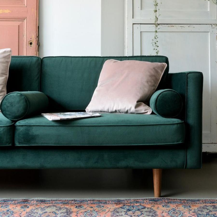 Sofacompany Com Brings You Danish Designed Original Furniture Harper 3 Seater In Velour Lux Dark Gr Elegant Sofa Dark Green Couches Living Room Sofa Design