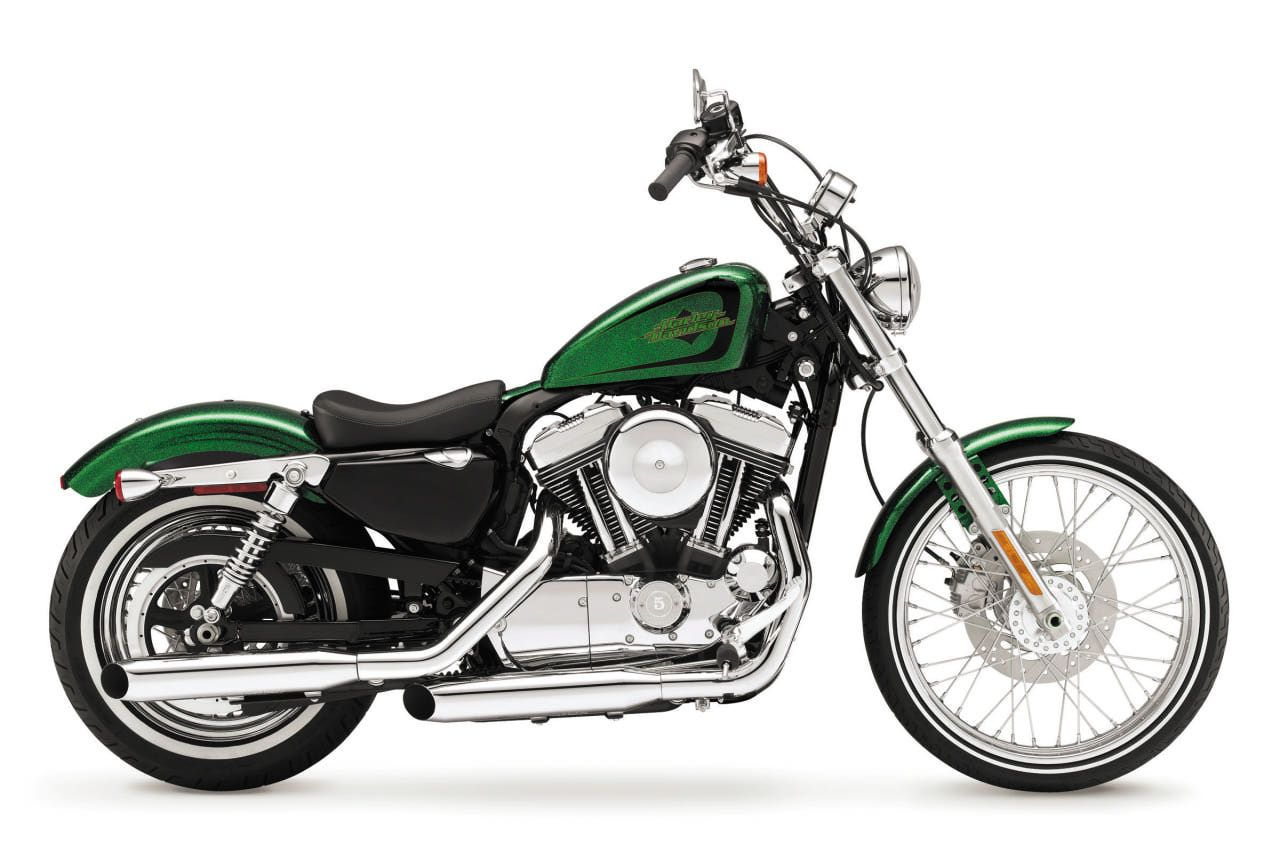 Harley Davidson 72 Sportster Green Metal Flake Paint Job This