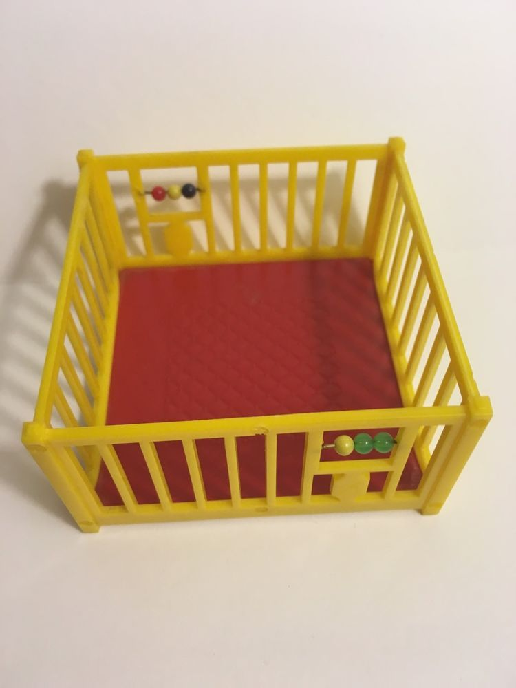 Renwal Playpen with Beads RARE Color Red Yellow Vtg Dollhouse Furniture 1 16 | eBay
