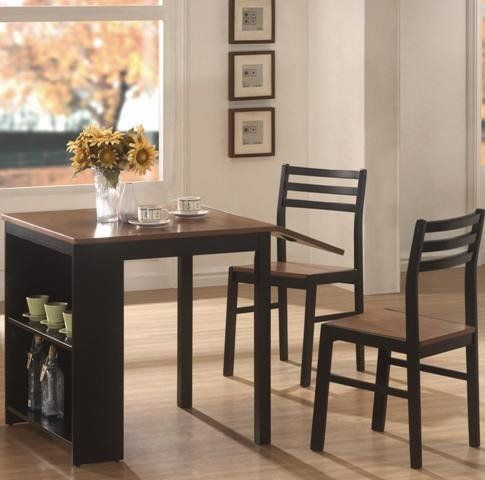 Coaster Home Furnishings 130015 Casual Dining Room 3 Piece Set Brilliant Coaster Dining Room Furniture Inspiration