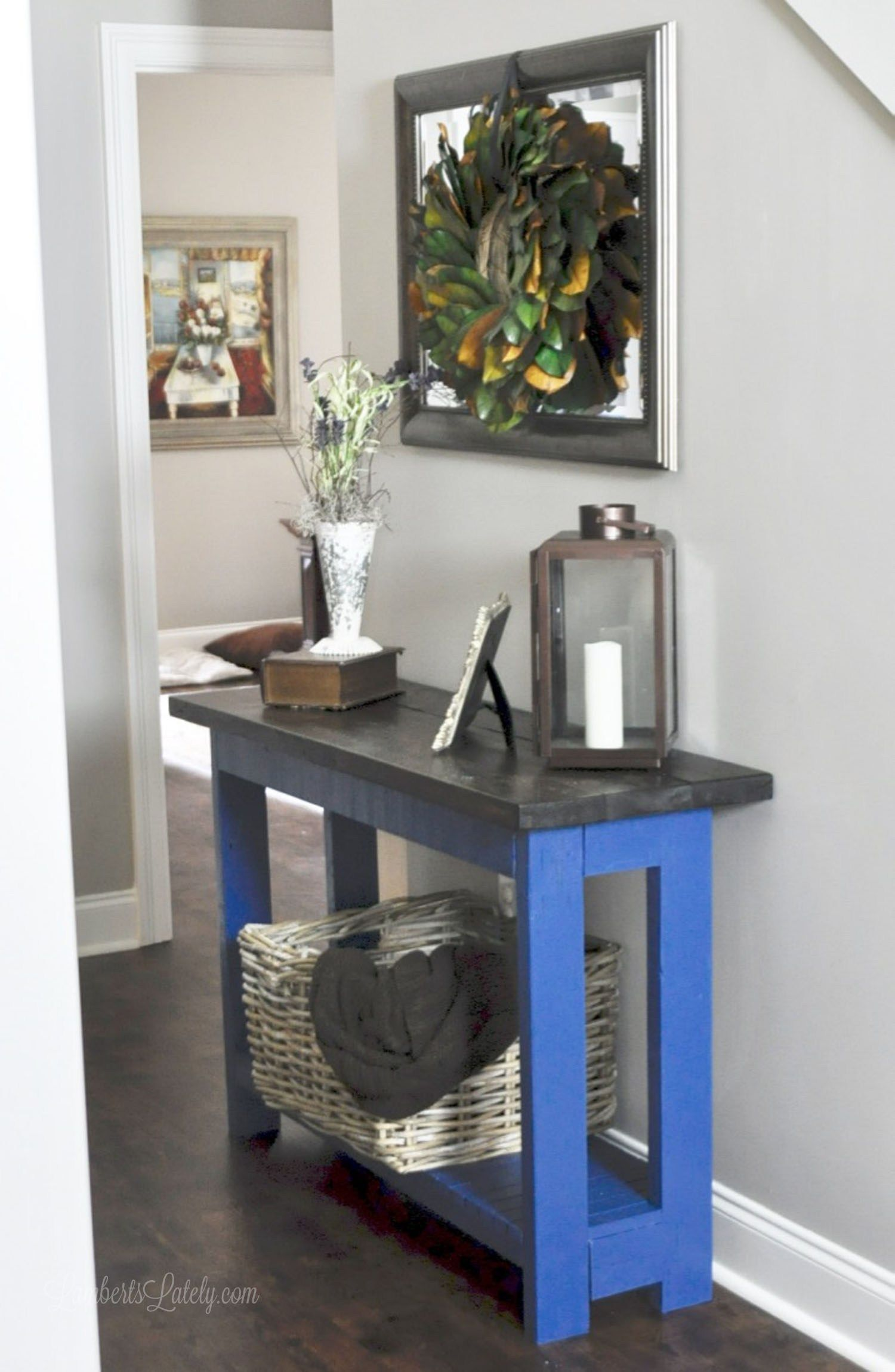 An easy diy farmhouse console table diy entryway table