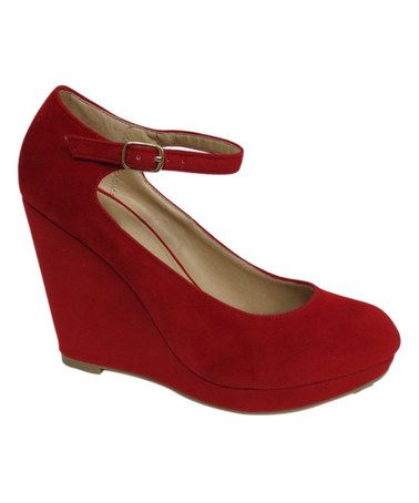 This Red Choo Wedge is perfect! #zulilyfinds