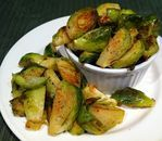 Roasted Brussels Sprouts with Sweet Dijon Mustard Sauce