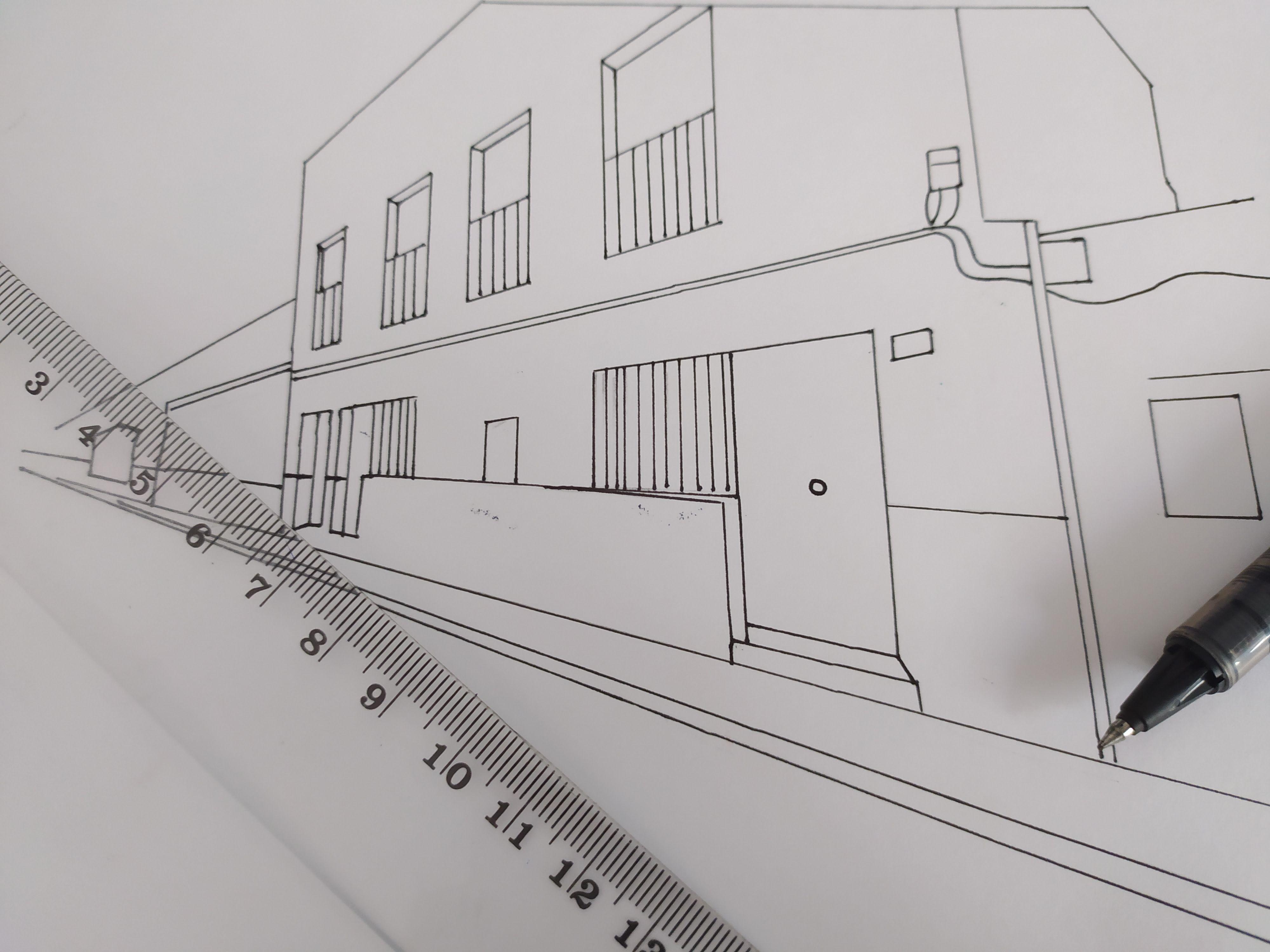 Dibujo En Perspectiva Dibujo Perspectiva Perspectiva Boligrafos