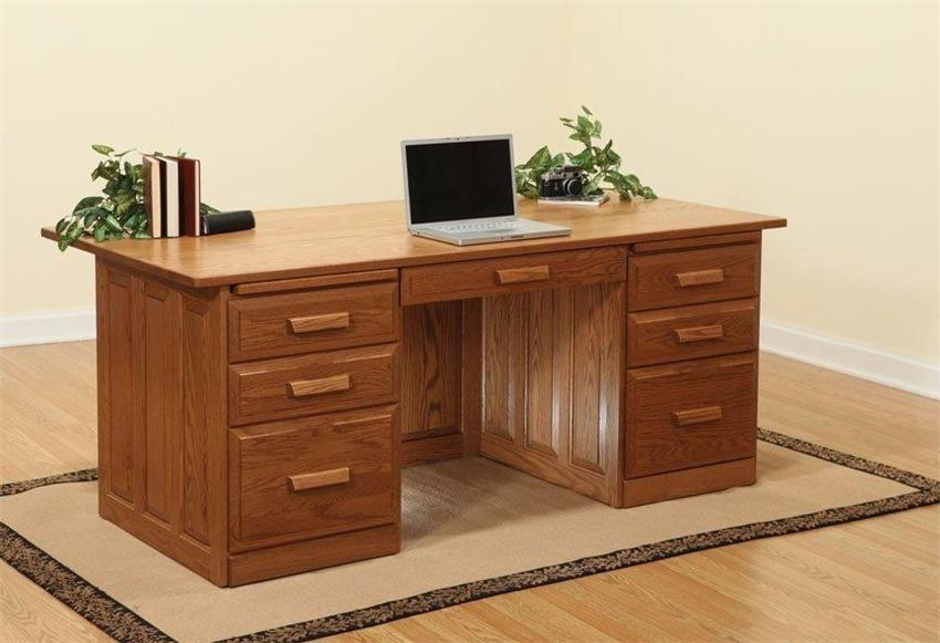 Oak Executive Desk Home Furniture Design Plans
