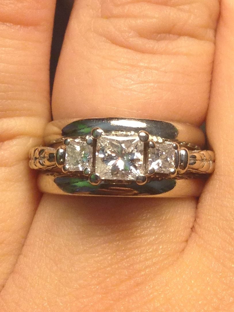 My beautiful wedding ring, I have to say Robert did a great job with this one! #mrscaroleann