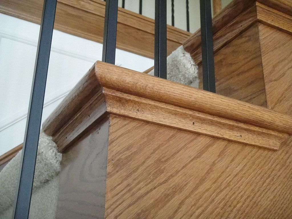 End Cap Staircase With Iron Spindles Staircase Custom Home Builders Staircase Design
