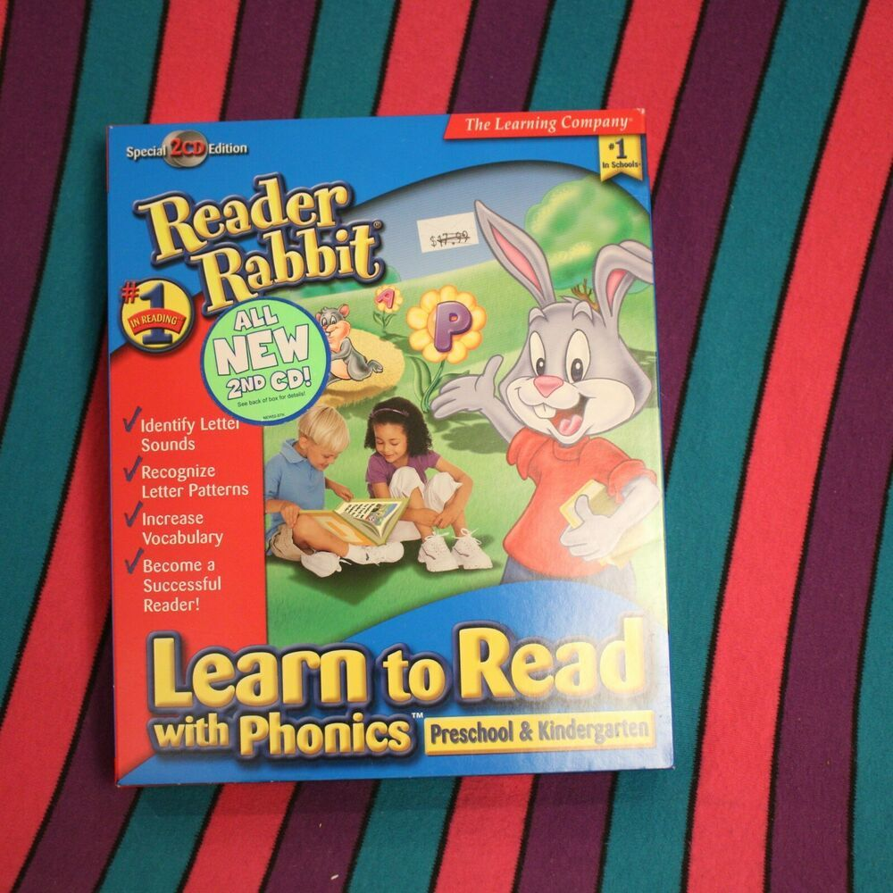 Reader Rabbit Phonics PC Computer Game Learn to Read