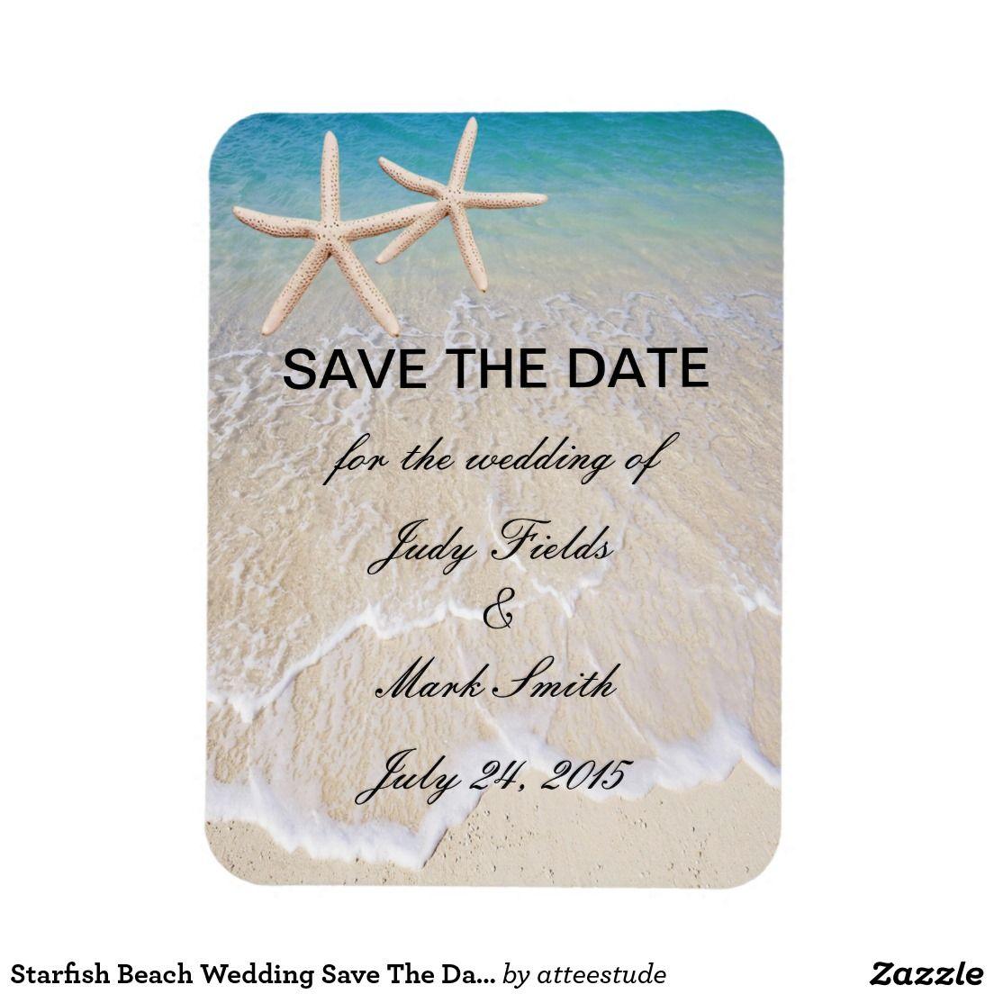 Starfish Beach Wedding Save The Date Magnet | WEDDING: SAVE THE DATE ...