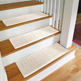 Carpet Stair Treads Protect Wooden Stairs From Wear With Machine Washable  Stair Treads. All You Have To Do Is Lay These Stair Treads In Place To  Prevent ...