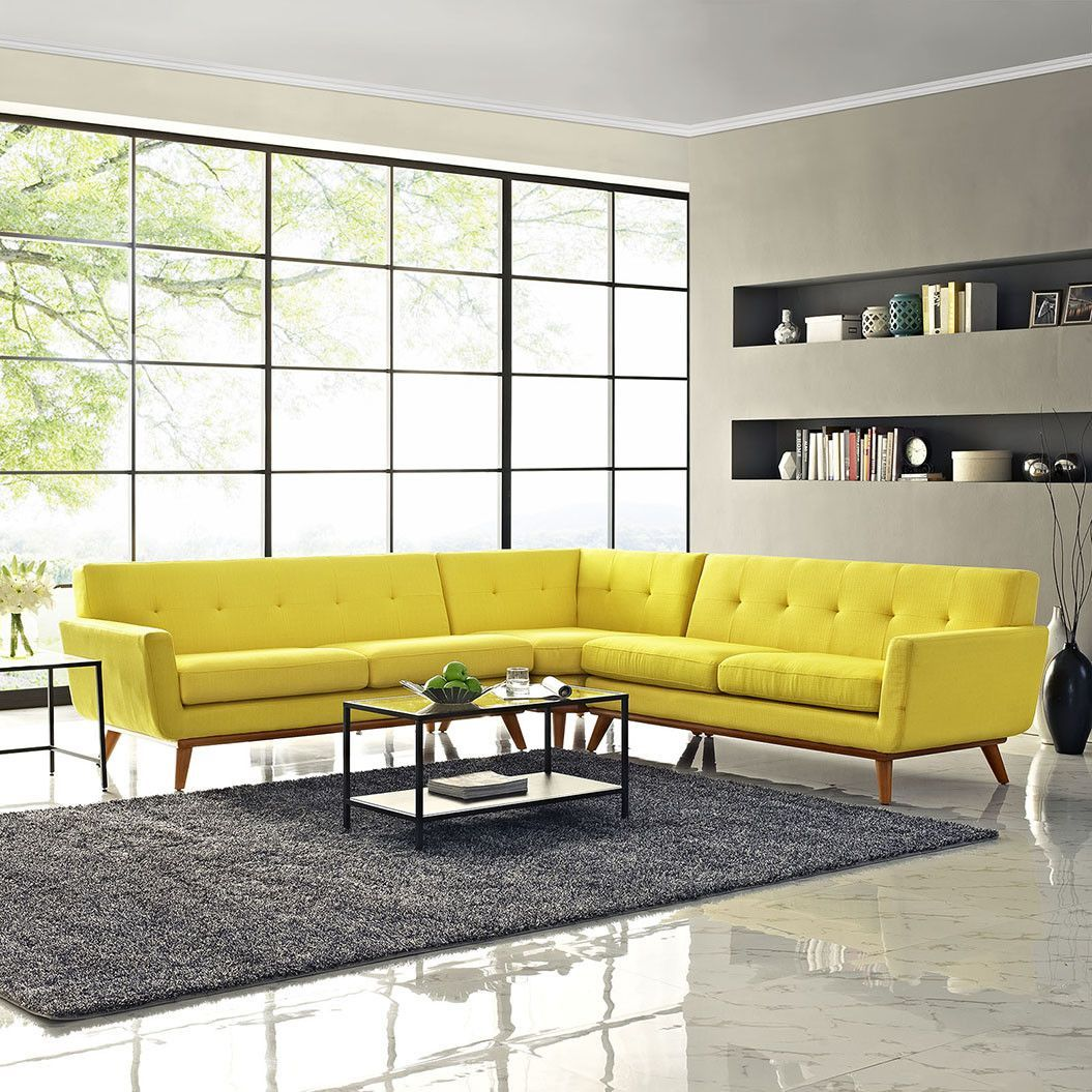 Modway Engage L Shaped Sectional Sofa Sectional Sofa L Shaped Sofa Furniture