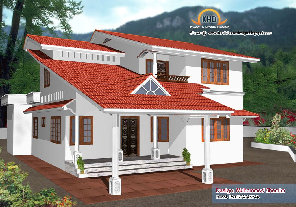 Beautiful Front Elevation Of Kerala Houses : Beautiful home elevation designs kerala house design idea