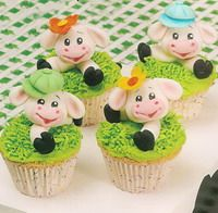 Cute cows cupcakes tutorial