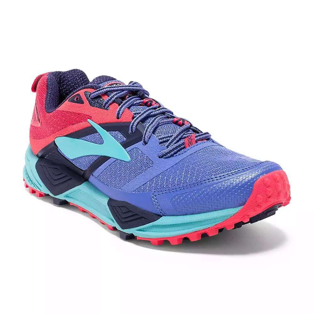 b0b6de10b7dc5 Brooks Women s Cascadia 12 Trail Running Shoe - 7.5 - Baja Blue   Paradise  Pink