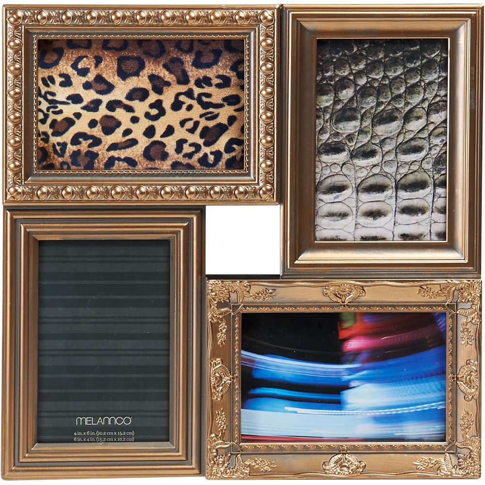 Melannco Multi Picture Frame Collage in Gold | Overstock™ Shopping ...