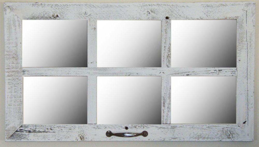 Vintage Barn Wood 6 Pane Window Wall Mirror 28 X 16 Rustic Farmhouse Decor Unbranded Farmhouse Window Pane Mirror Window Mirror Home Decor Mirrors