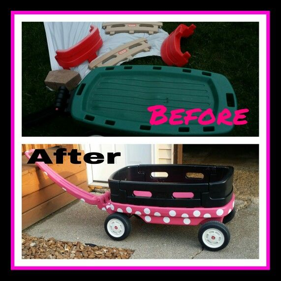 Littletike Wagon Makeover Minnie Mouse Bought A 10 Little Tike