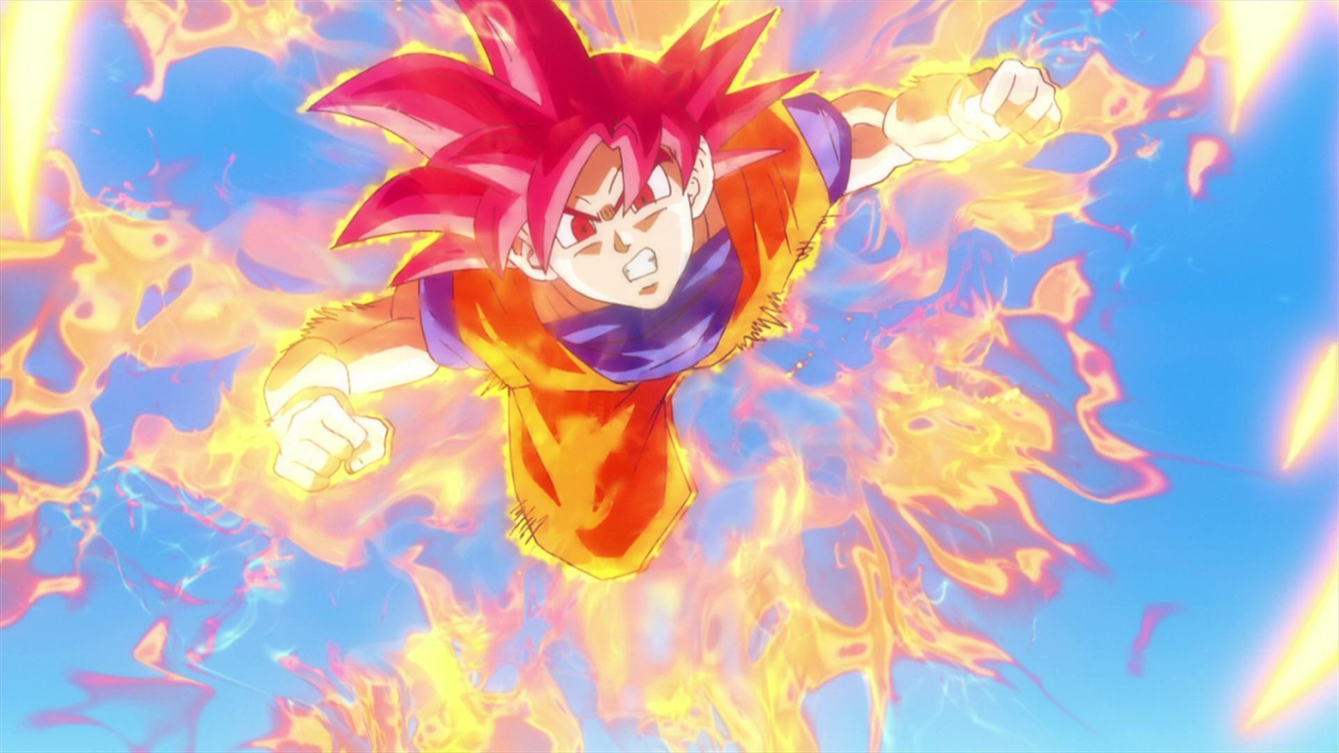 Goku Super Saiyan God 1080p Wallpaper Dragones Dragon Ball