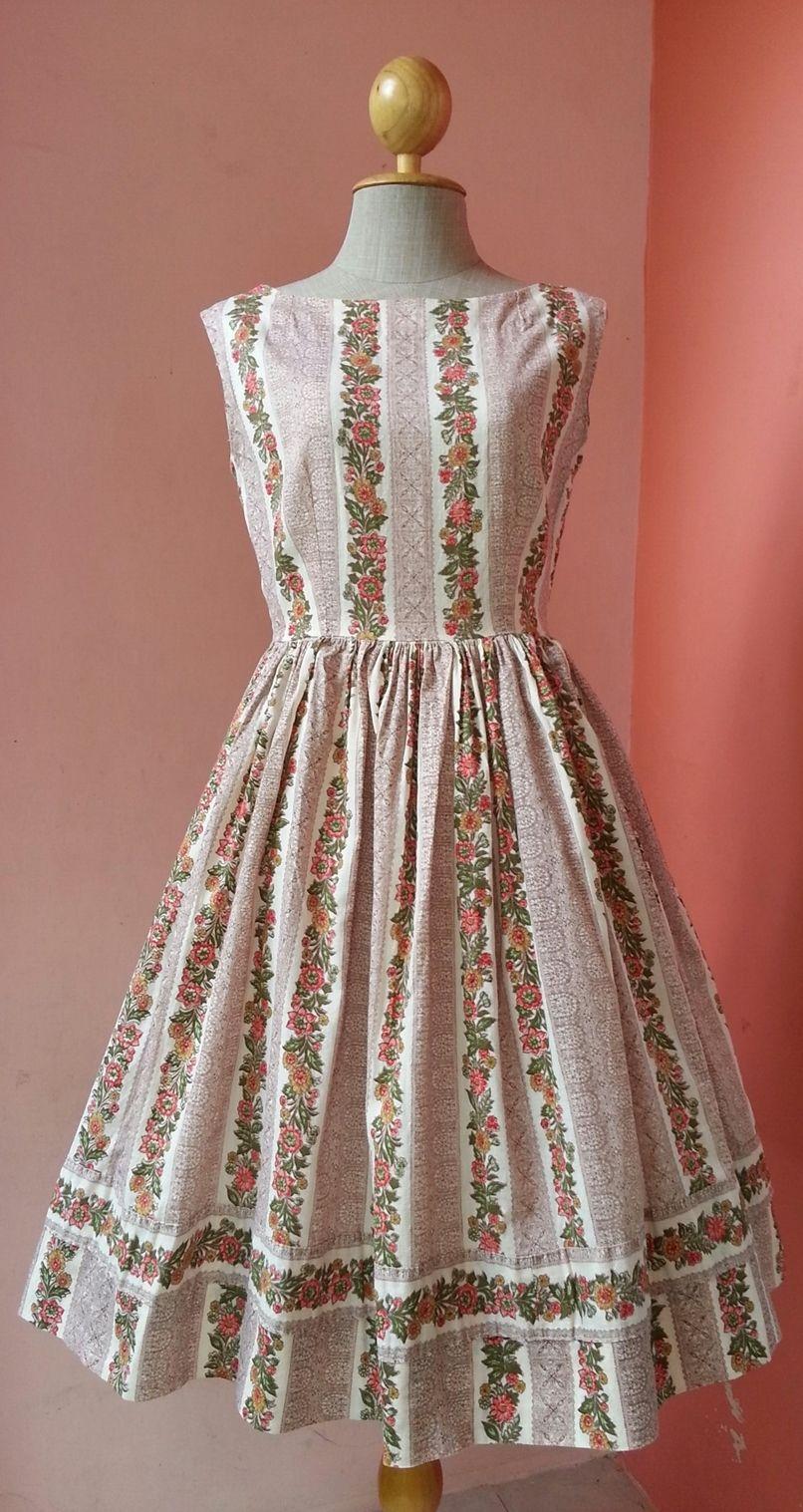 1950s Dress Casual Dress Summer Dress Womens Dresses Day Dress Sundress Vintage 50s Floral Print Cotton Dr Vintage Fashion 1950s Clothes Design Vintage Outfits [ 1517 x 806 Pixel ]