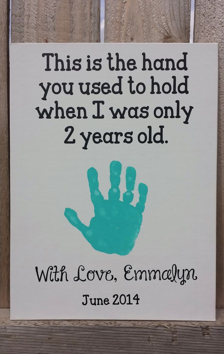 Emmalyns Handprint Craft 2 Years Old June 2014 Fathers Day Daddys Birthday
