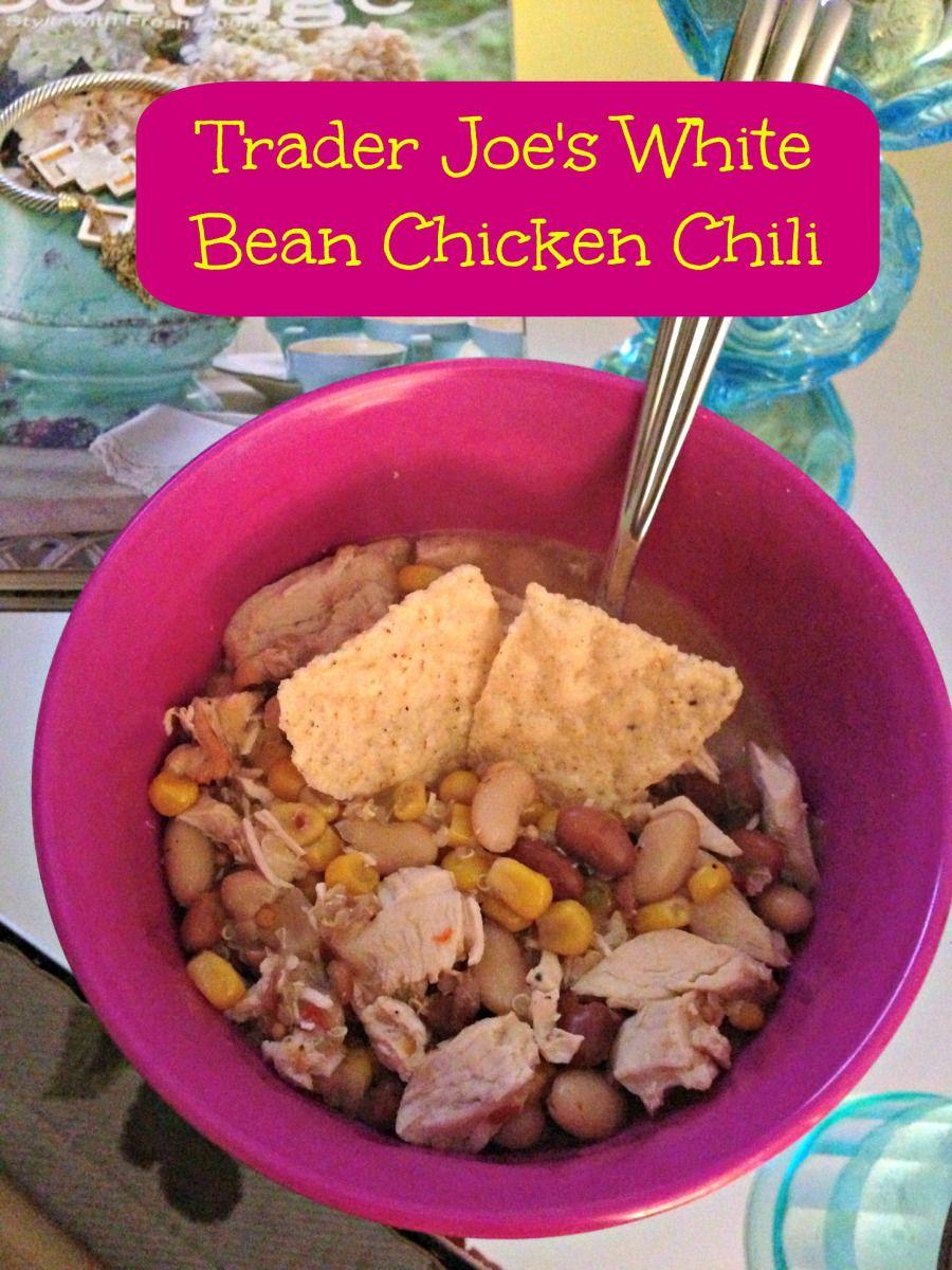 Crazy Easy Six Ingredient Trader Joe S Chicken Chili White Bean Chicken Chili White Bean Chili Trader Joes