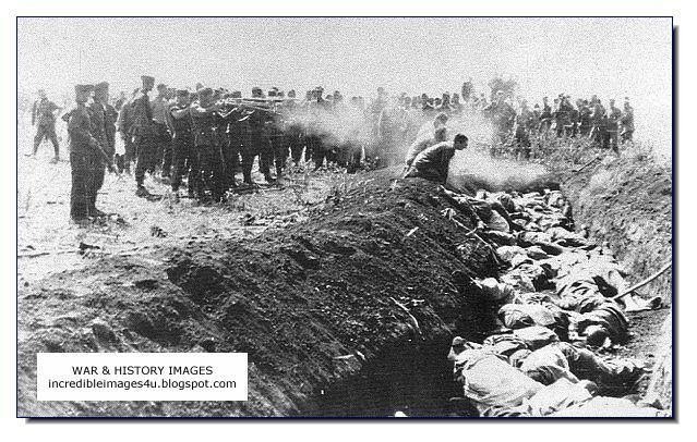 Image result for nazis firing jews in front of mass graves