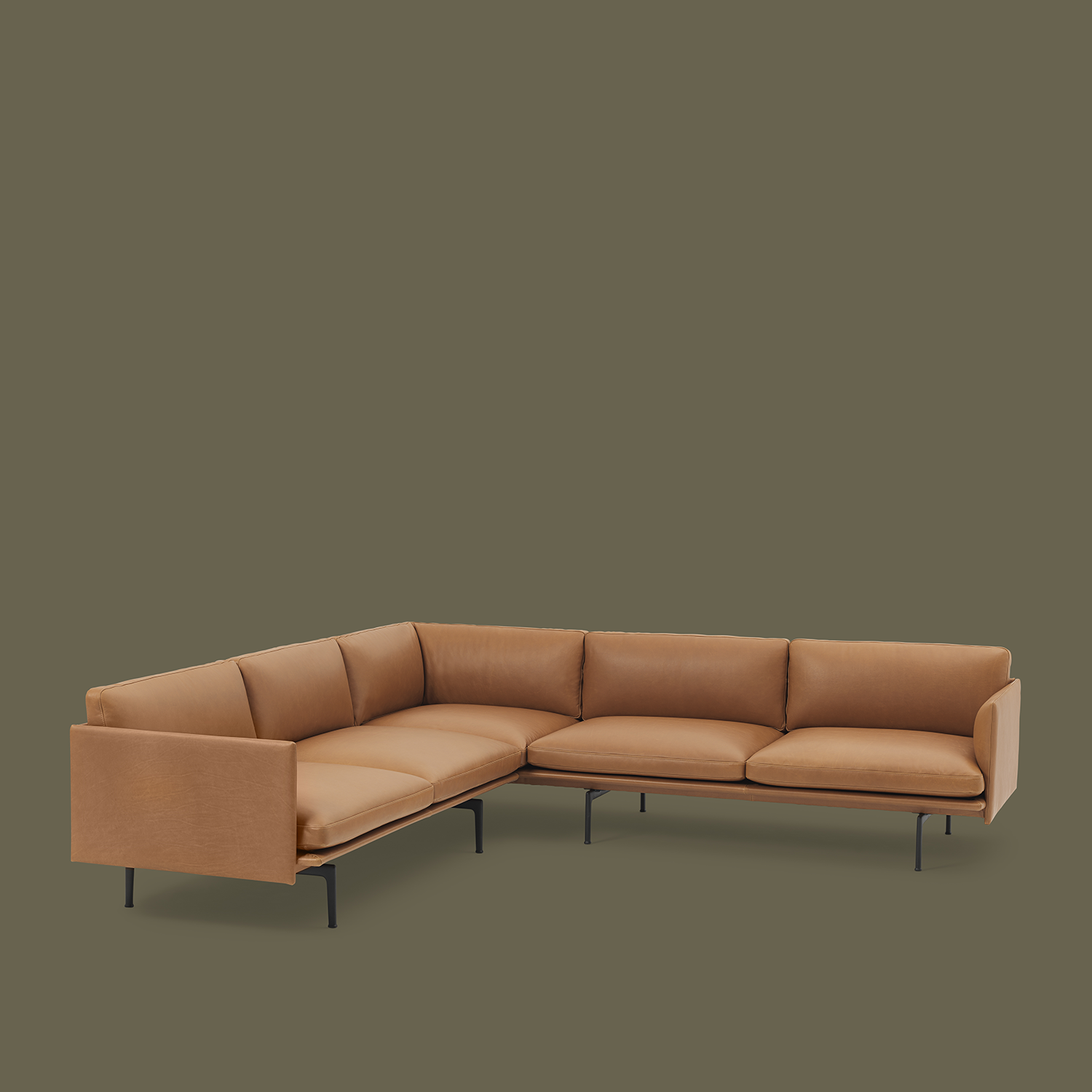 Timeless And Comfortable Corner Sofa Design Decor Inspiration From Muuto Embodying Refined And Elegant Design Is The Outline Corner Sofa An Angular Sofa With I 2020