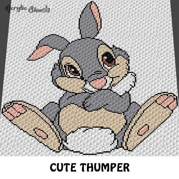 Graphgan Pattern - Corner to Corner - C2C - Thumping Boy Rabbit ...