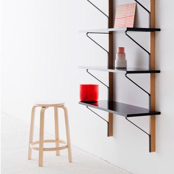 Artek Kaari Wall Shelf Reb 009 Black Oak Shelves Shelving Artek