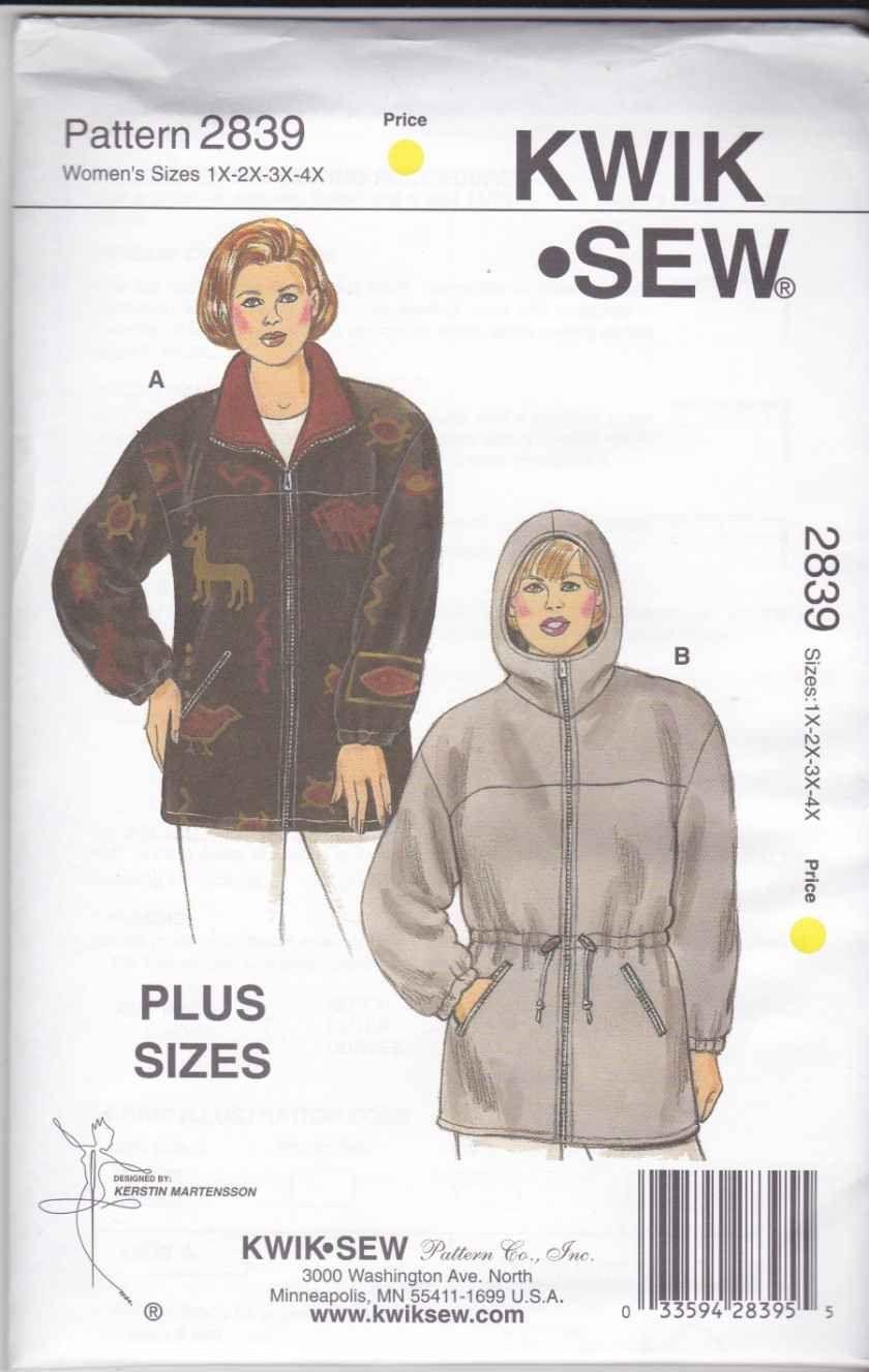 Kwik sew sewing pattern 2839 womens plus sizes 1x 4x 22w 32w kwik sew sewing pattern 2839 womens plus sizes 1x 4x 22w 32w jeuxipadfo Choice Image