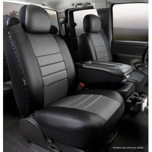 Fia LeatherLite Custom Seat Cover Fits Black With Gray Center Panel