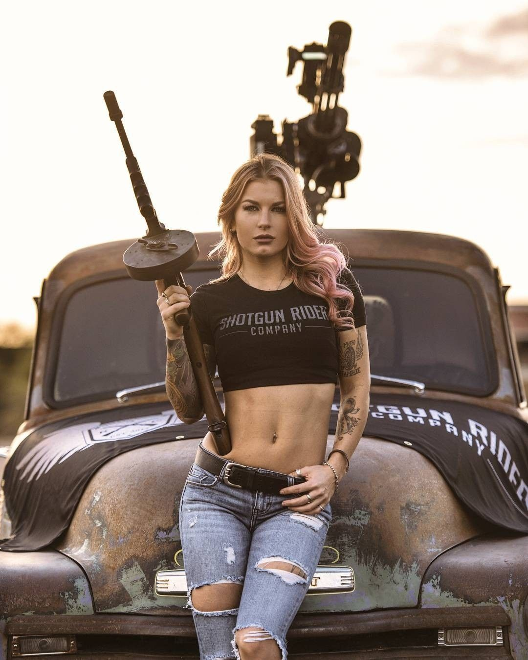 Girl With Tommy Gun