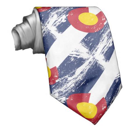 Grunge Colorado Flag Neck Wear