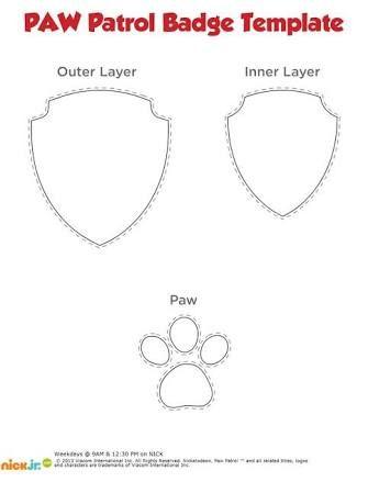 paw patrol badge templates - Google Search u2026 Pinteresu2026 - found poster template