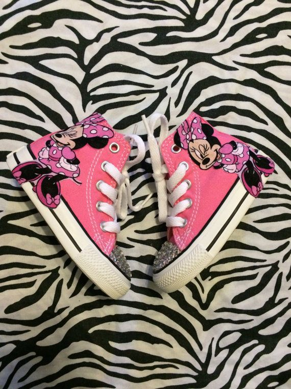 926264cdba55 Minnie mouse converse by PrincessChelsey1 on Etsy