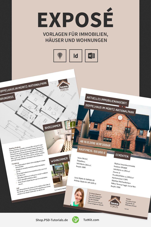Hochwertige Immobilien Expose Vorlagen Expose Immobilien Immobilien Immobilien Logo