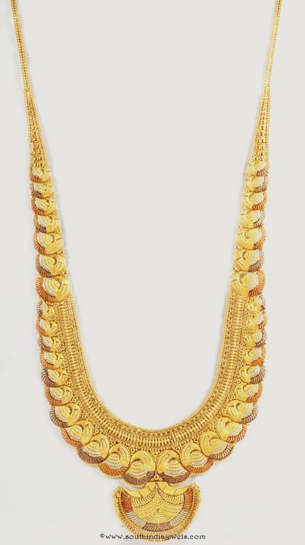 Gold Designer Long Necklace from Senthil Murugan Jewellers ...
