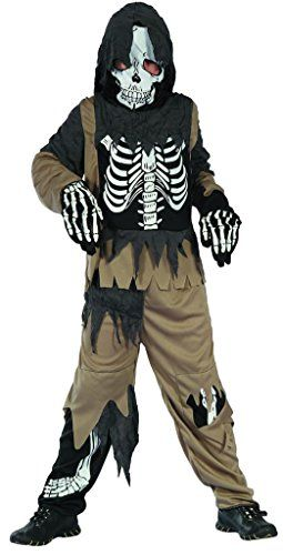 you look ugly today boys scary skeleton zombie halloween dressup costume quality fabric washable