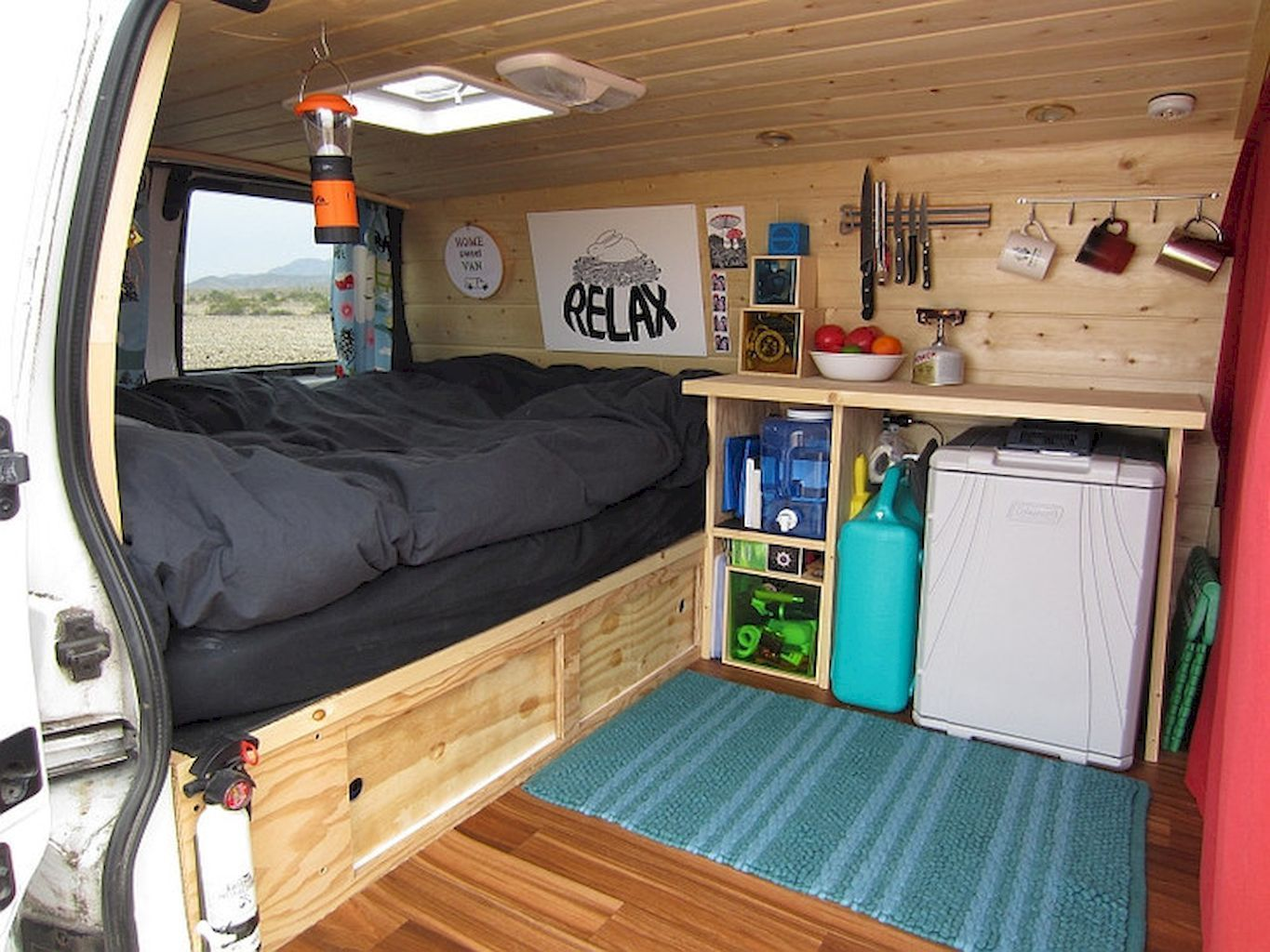 Camper Van Interior Design And Organization Ideas (17)
