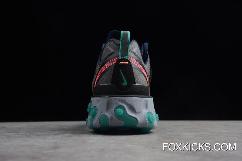 6cf6b98f683d5 Nike Epic React Element 87 Black Neptune Green-Bright Mango-Midnight Navy  AQ1090