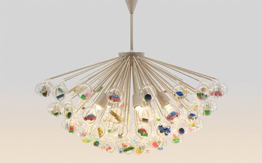 Hmm...how to DIY this light fixture.  LOVE it!