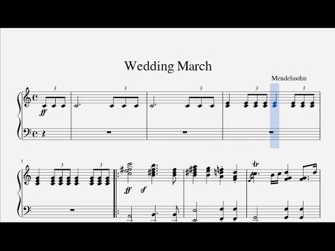 Wagner Bridal Chorus Here Comes The Bride Youtube Wedding
