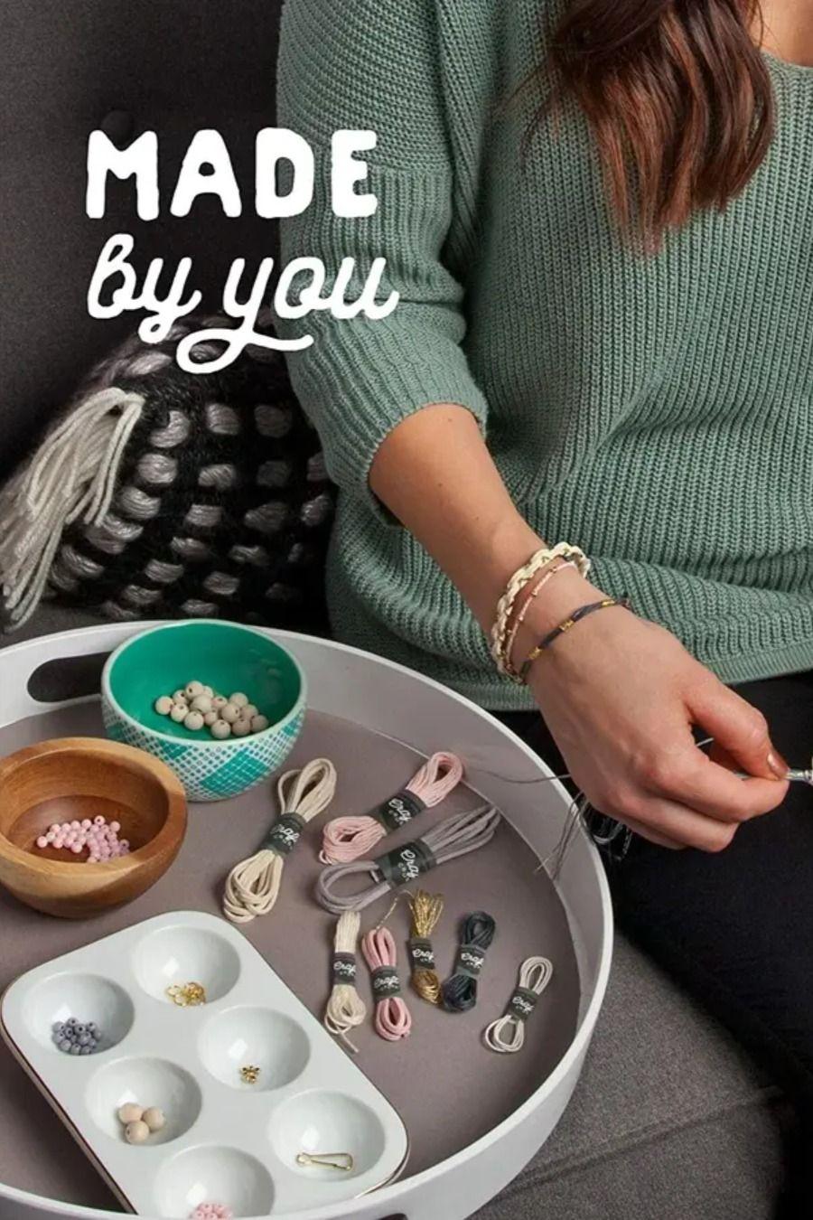 Craft Crush Diy Bracelet Craft Kit Blush