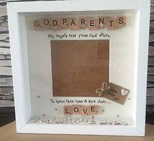 baptism christening Personalised Godparent Gift godmother//father