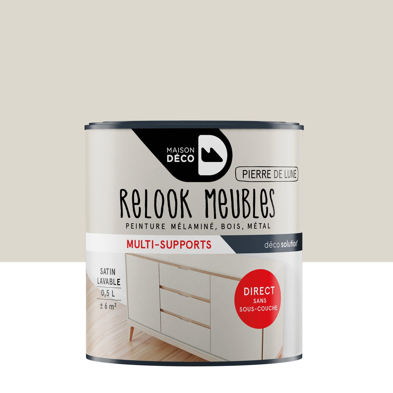 Peinture Pour Meuble Objet Et Porte Maison Deco Relook Meuble Gris 0 5 L Leroy Merlin En 2020 Peinture Meuble Peindre Meuble Cuisine Peinture Acrylique Murale
